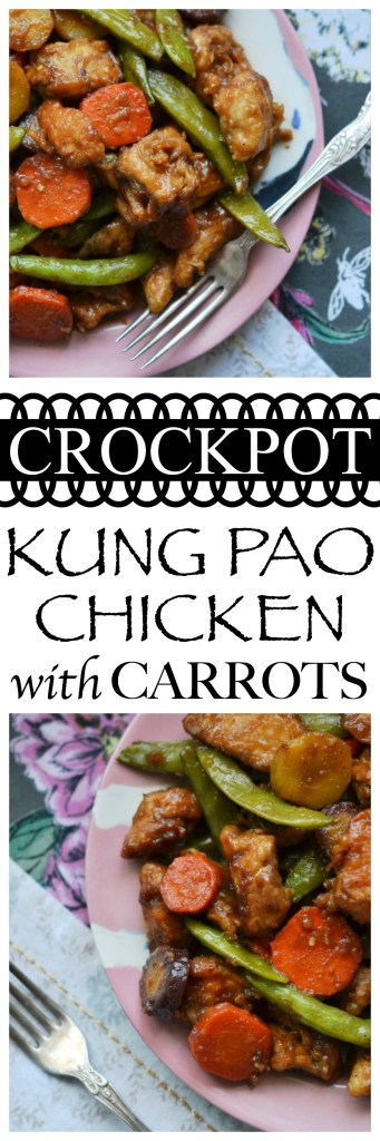 This simple crockpot Kung Pao Chicken meal has all the flavor of takeout Chinese food, only it's made with healthier ingredients and far less fat.