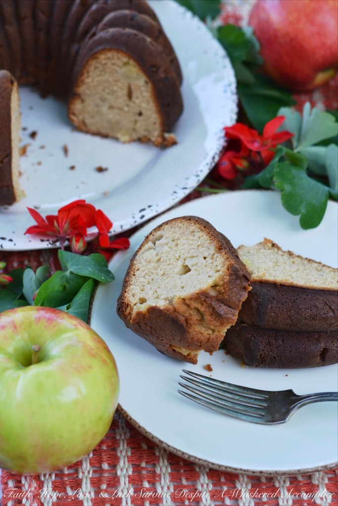 A touch of honey and cinnamon paired with the taste of crisp autumn apples help to make this bake and slice Bundt cake a slightly sweet fall treat.