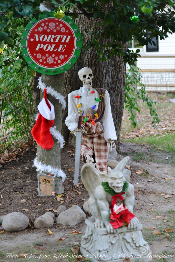 "A look at The Historic Herndon Halloween House (Herndon, VA) 2017 ""The Nightmare Before Christmas"" themed Scottish Skeleton Clan Army."