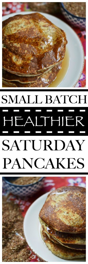 Healthier flavor-filled pancakes are only a few ingredients away with this simple and nutritious small batch Saturday pancake recipe.