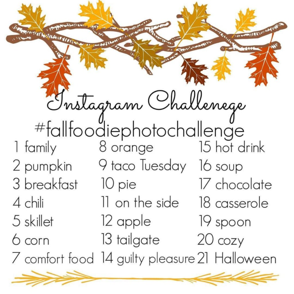 Kicking the autumn season off with a fall foodie photo challenge on Instagram, with amazing photo-worthy fall perfect recipes. #fallfoodiephotochallenge