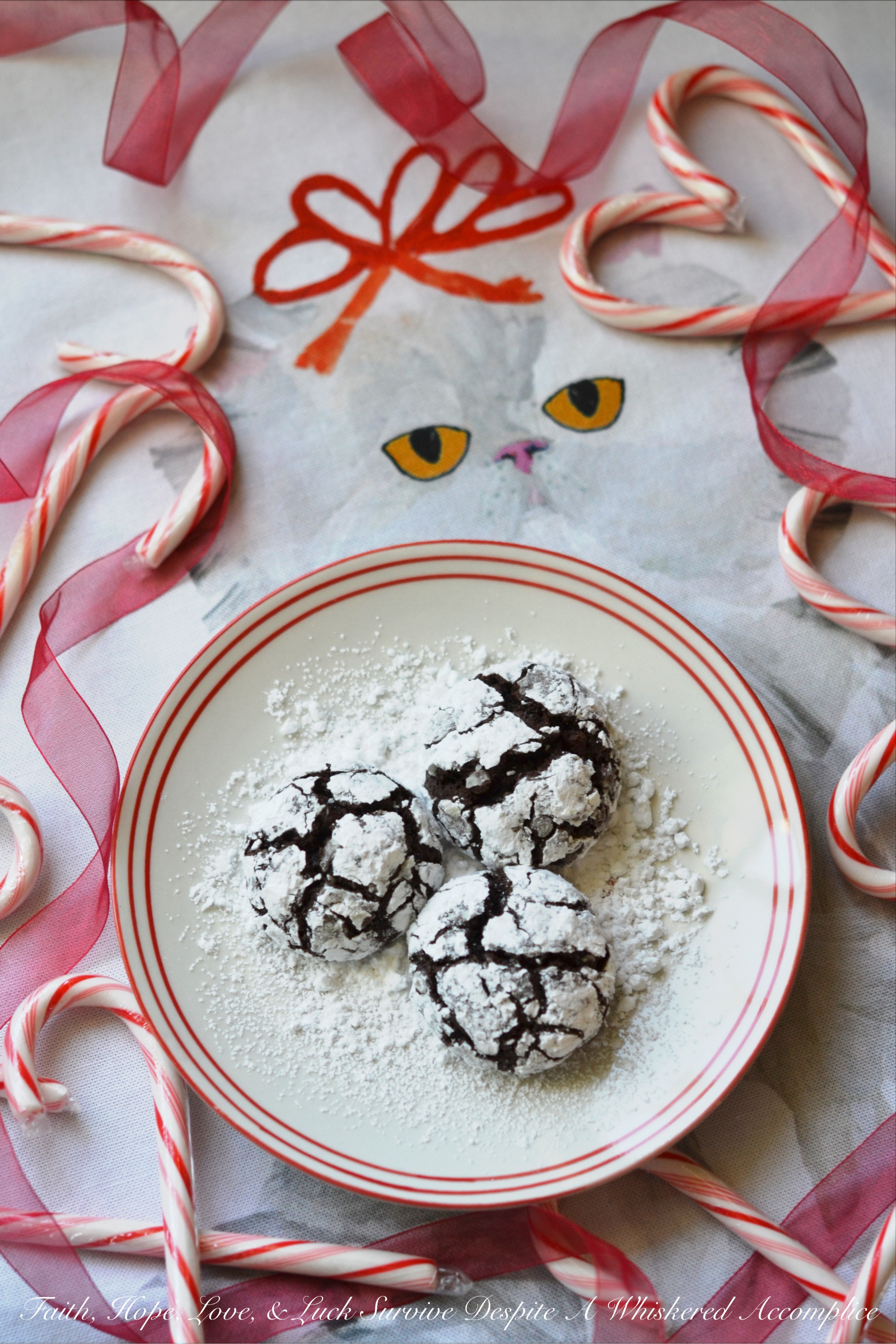 Mexican Chocolate Chip Crinkle Cookies #ChristmasCookies