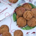 Every cookie exchange, cookie swap, or cookie tray should include a gingerbread cookie and this chocolate chip cookie version is one everyone will enjoy.