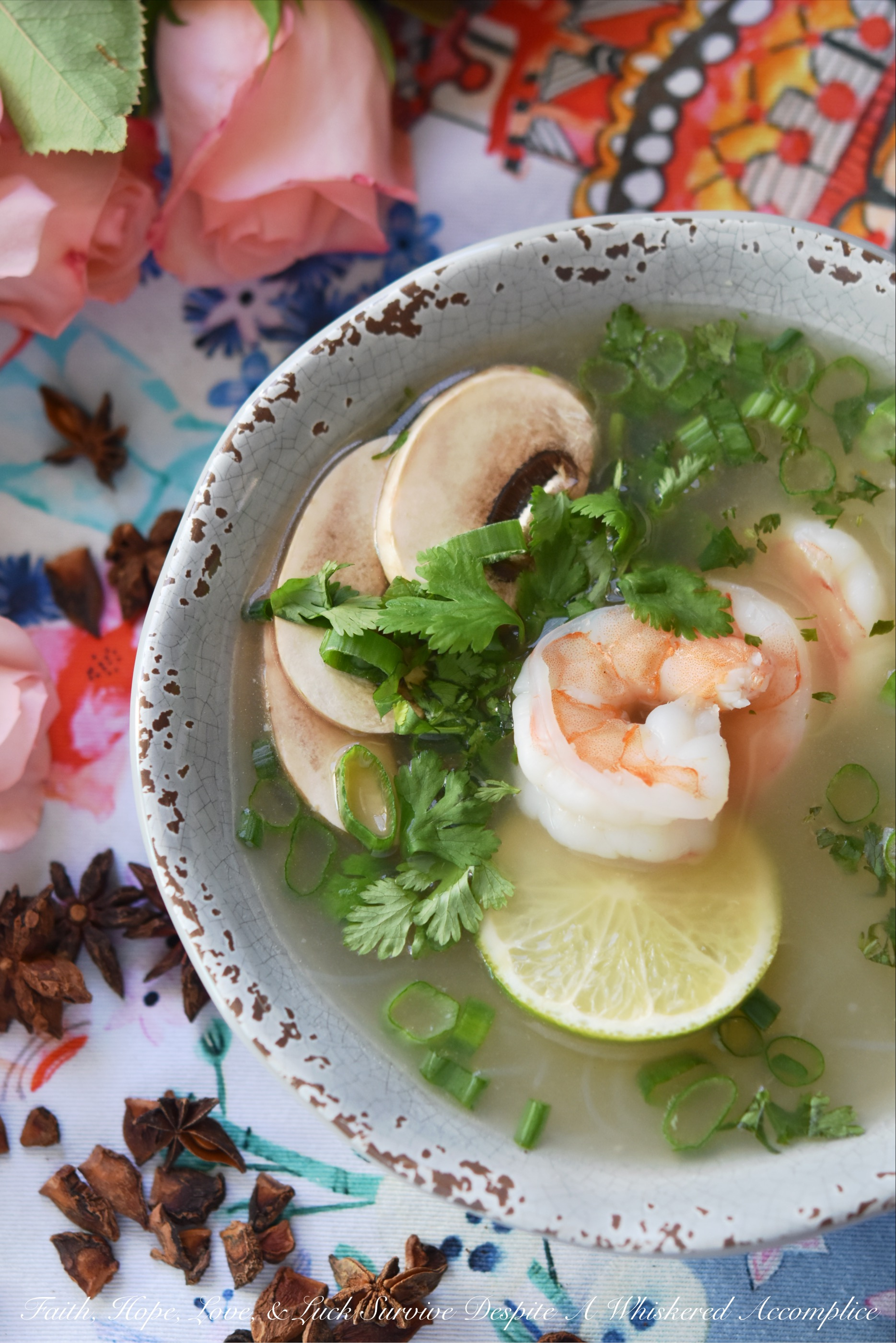 Healthy Shrimp & Rice Vermicelli Pho