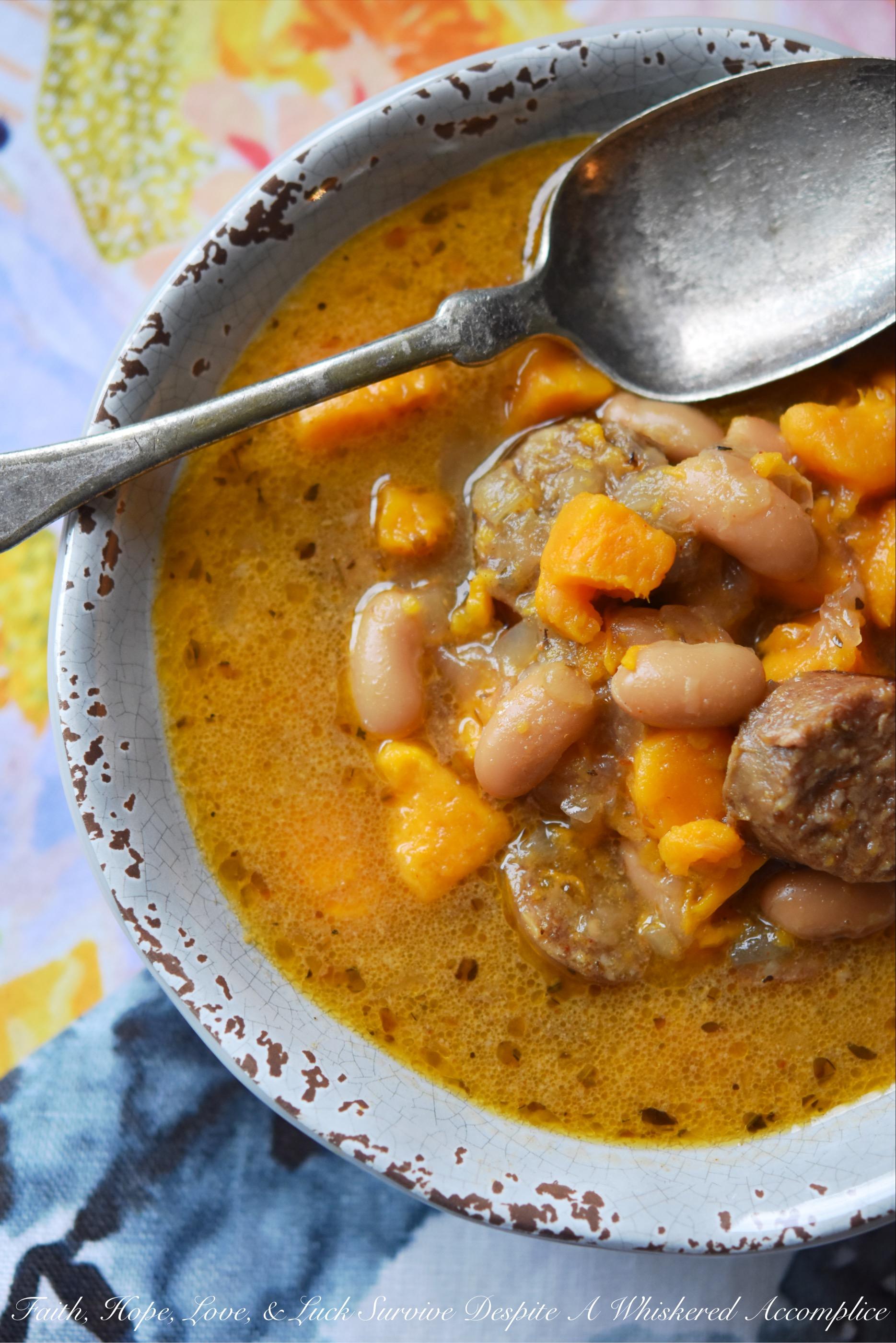 Cajun Bratwurst Slow-Cooker Soup
