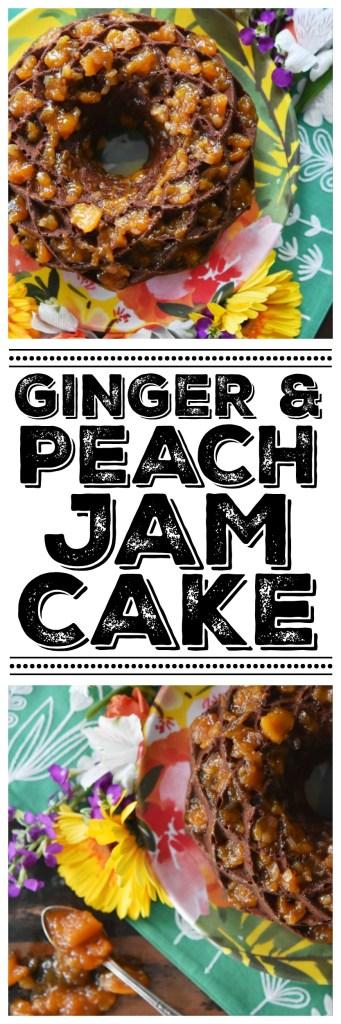 Spicy ginger and sweet peach jam combine together in this Bundt cake to make a dessert that is absolutely heavenly as well as comforting.