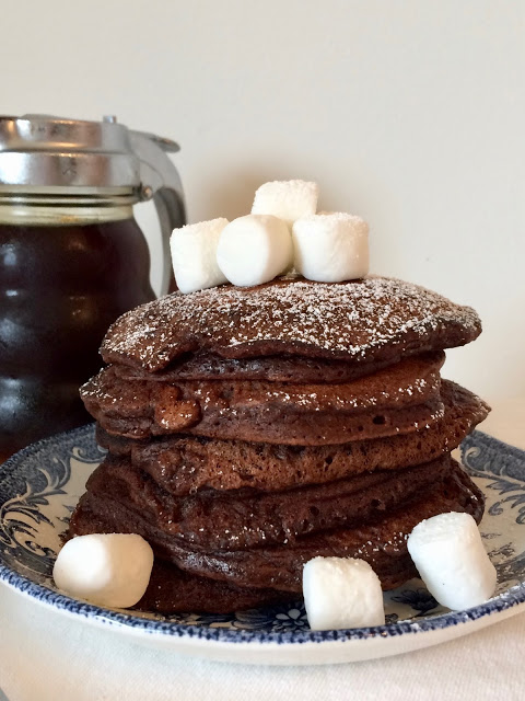 Hot Chocolate Pancakes - Celebrate the month of February with this Valentine's Day themed Recipe Round-Up. There's sure to be something your sweetheart will love.