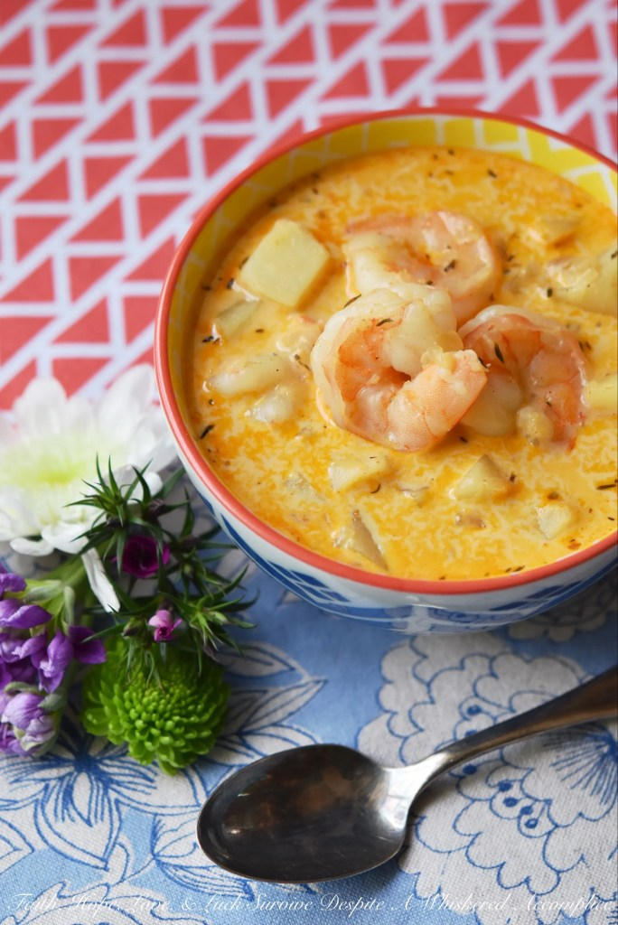 Whether you're looking to celebrate Mardi Gras or just in need of a comforting bowl of spicy seafood soup, this one-pot shrimp chowder is sure to satisfy your Cajun cravings.