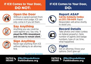 What to Do if ICE Comes to Your Door - English - Wallet Card
