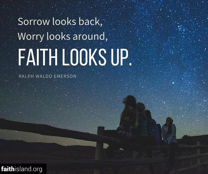 Emerson faith looks up quote