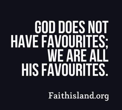 God does not have favourites