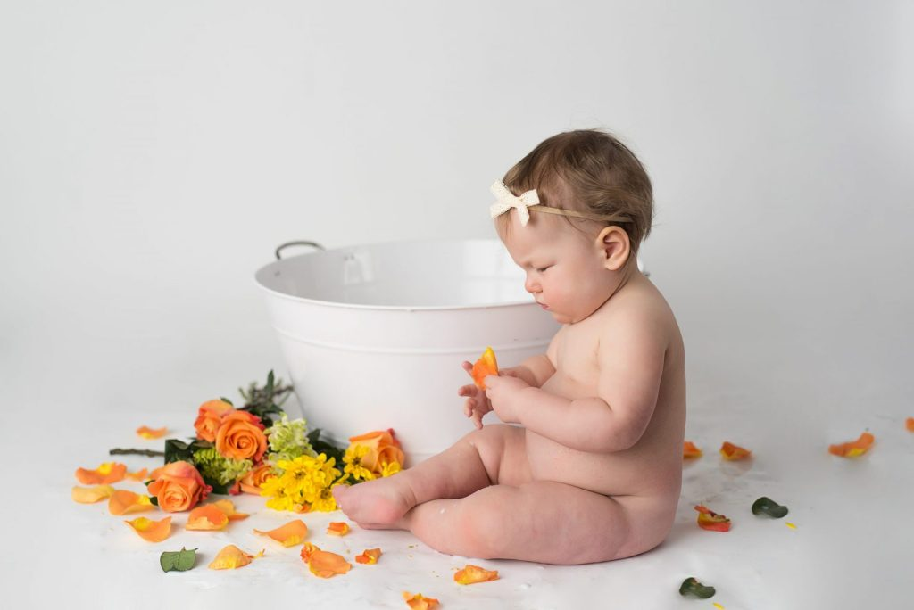 milk bath session baby