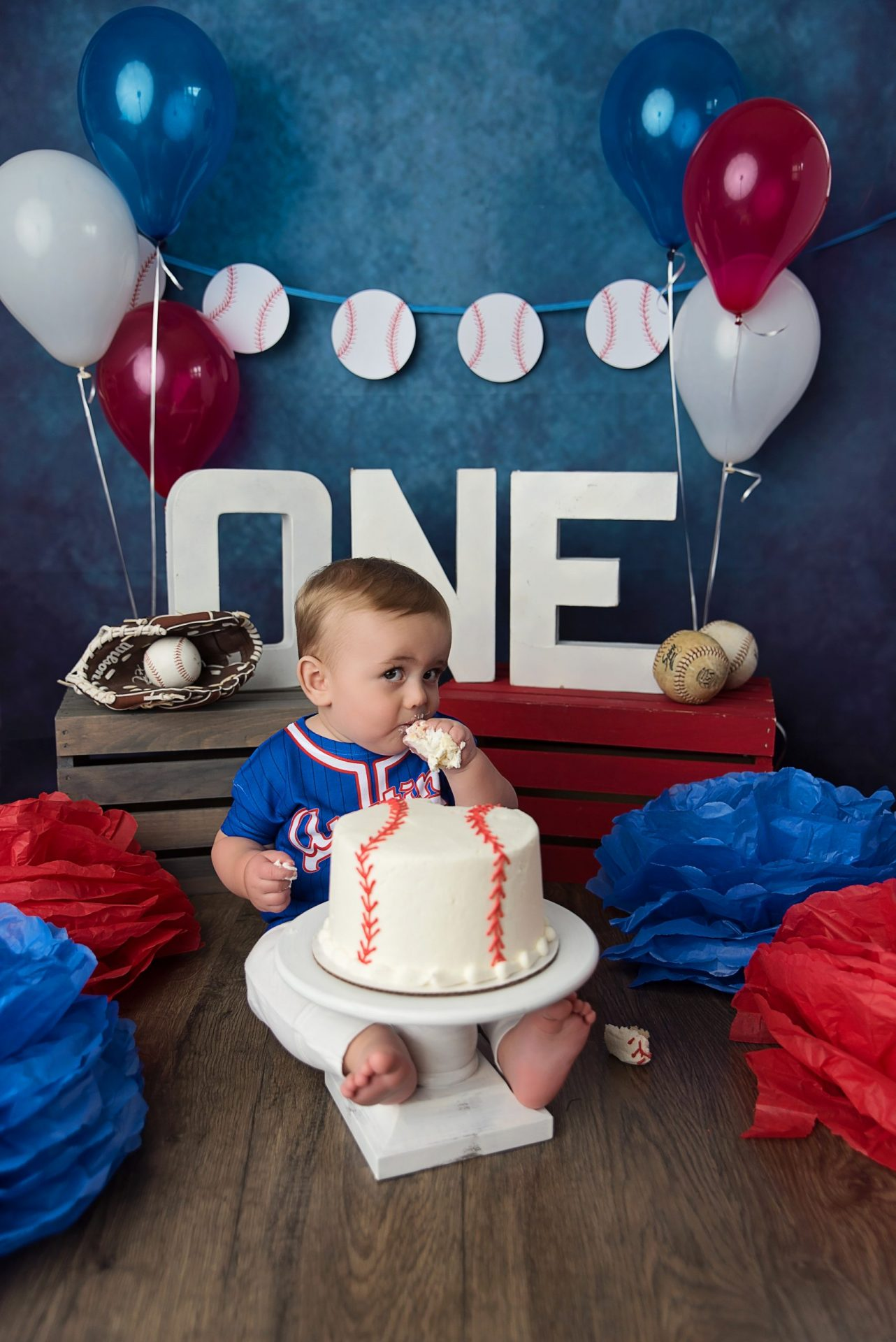 baseball cake smash birthday