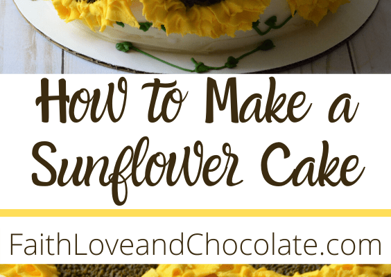 How to make a sunflower cake