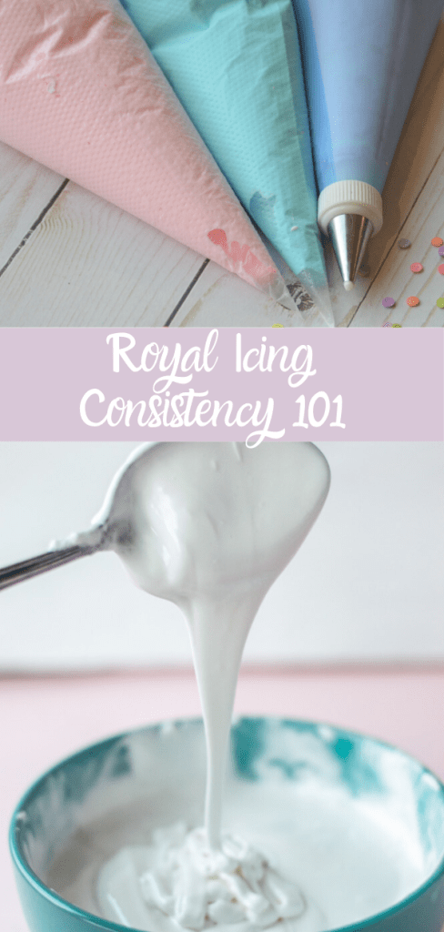 Royal icing consistency