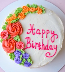 american buttercream birthday cake