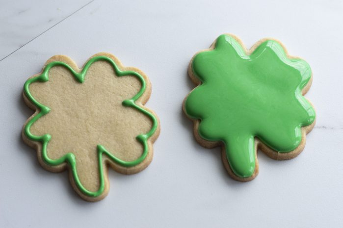 How to decorate shamrock cookies for Saint Patrick's day.