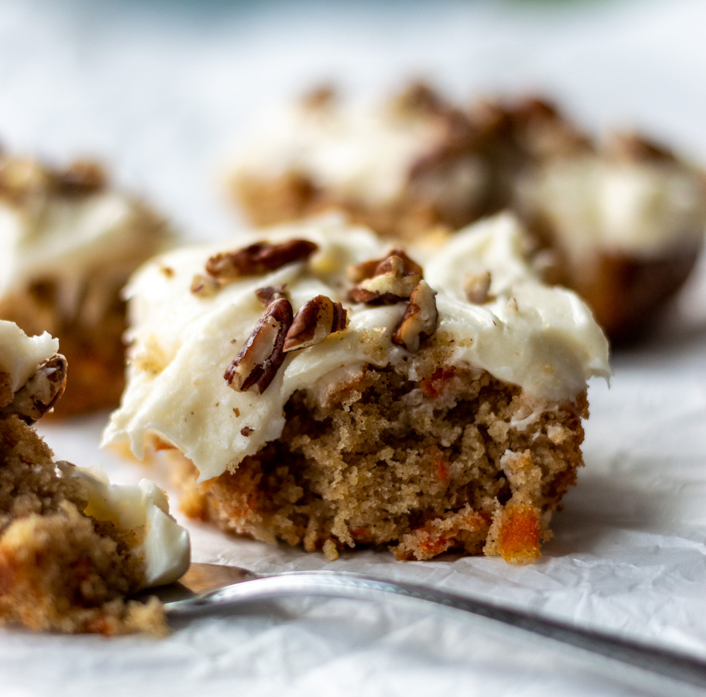 carrot cake with fork