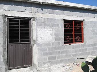 A sturdy cinderblock Faith Ministry house in Mexico