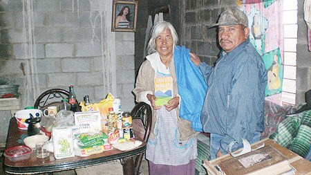 Delivering food packages in Miguel Aleman