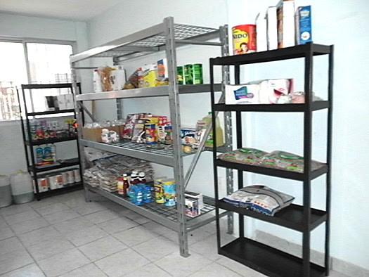 Shelves for the nutrition program in Reynosa