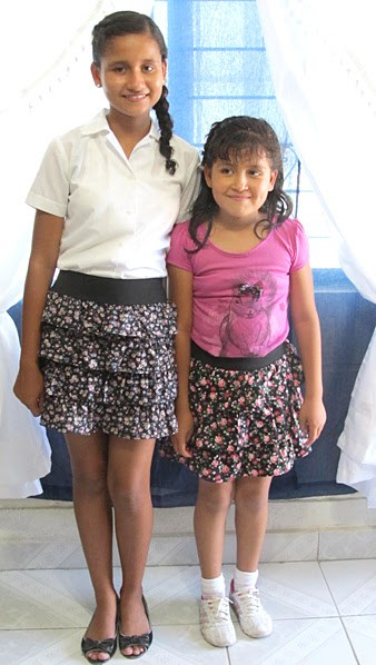 Two girls in their beautiful handmade skirts