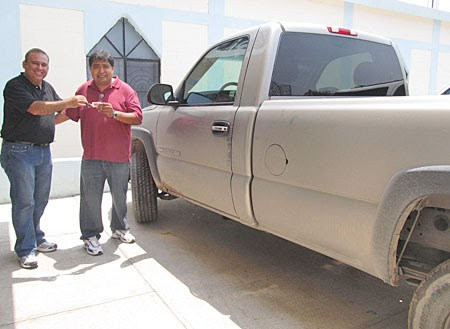 David and Omar with the new truck in Reynosa