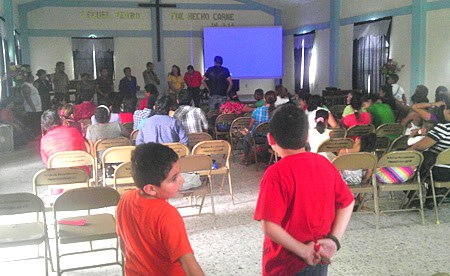 Our three churches celebrating together in Reynosa