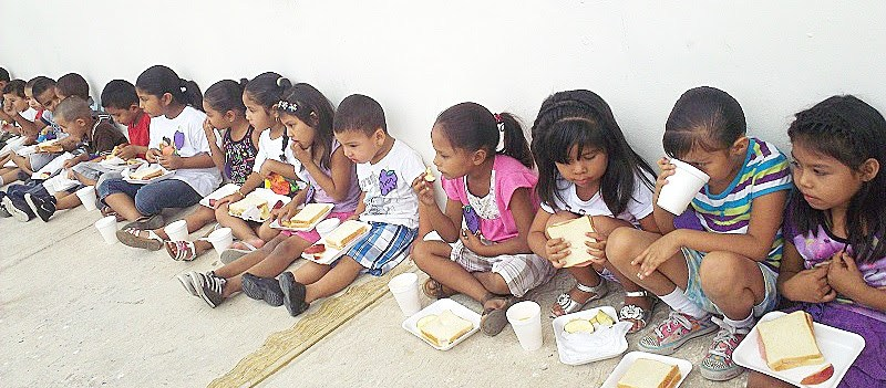 Kids in Miguel Aleman at Vacation Bible School