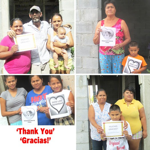 Four families happy to receive homes in Mexico