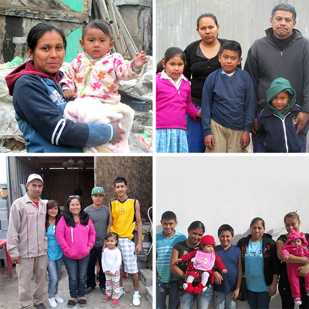 Four families needing homes in Mexico
