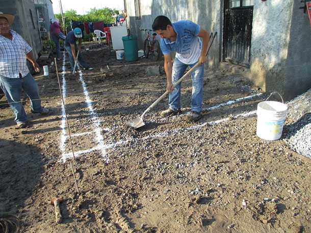 Jose Luis and Norma and their familys house under construction in Miguel Aleman