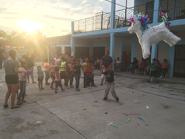 Pinata at a fiesta in Reynosa