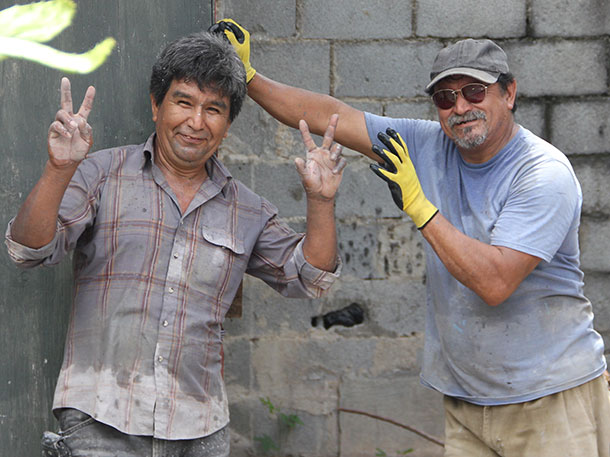 Jose and Lupe joking around in Reynosa