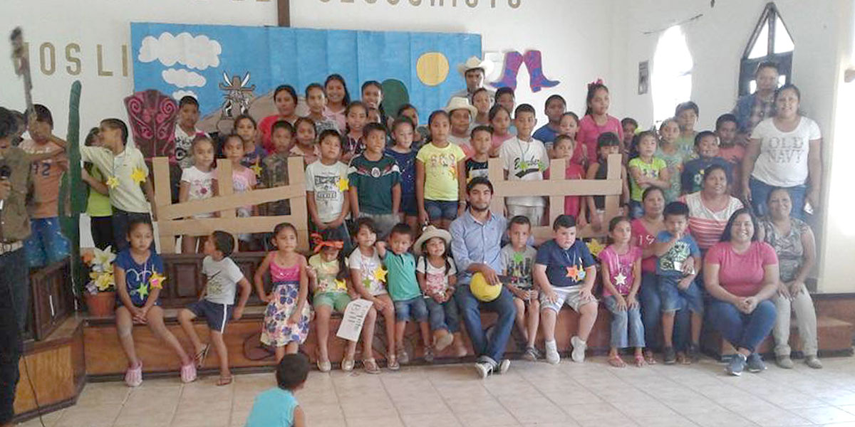 The kids at Vacation Bible School in Miguel Aleman