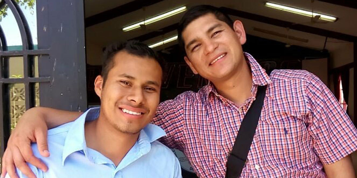 Our Bible school interns Javier and Francisco at church in Mexico