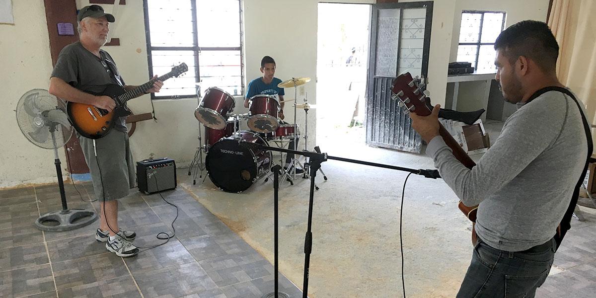 Carlos and Dave from Pennsylvania playing music in Naranjito