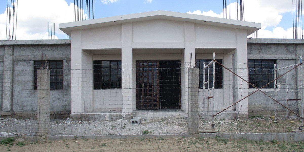 The progress on the community center in Miguel Aleman