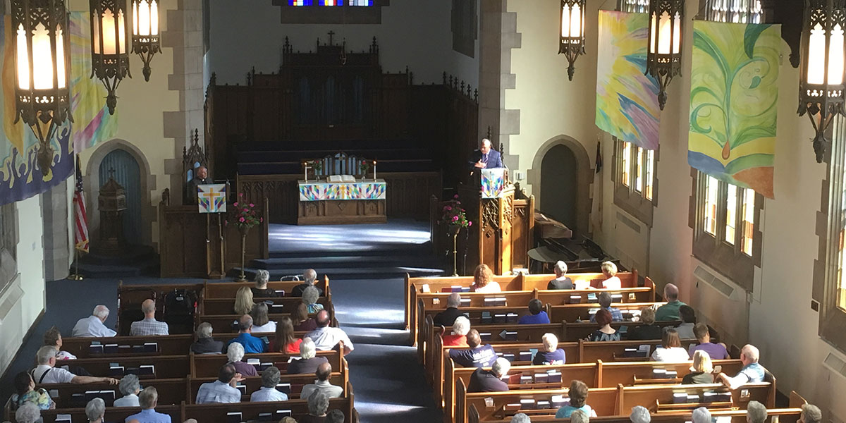 David preaching at Irvington Presbyterian in Indianapolis
