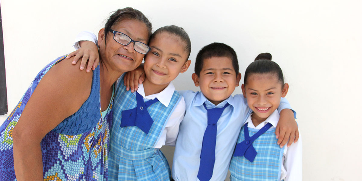 Scholarship students in Mexico