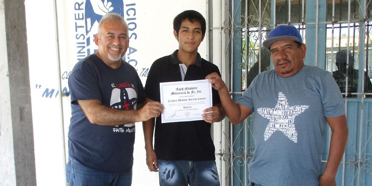 David Cristian and Luz at the foreman apprenticeship graduation