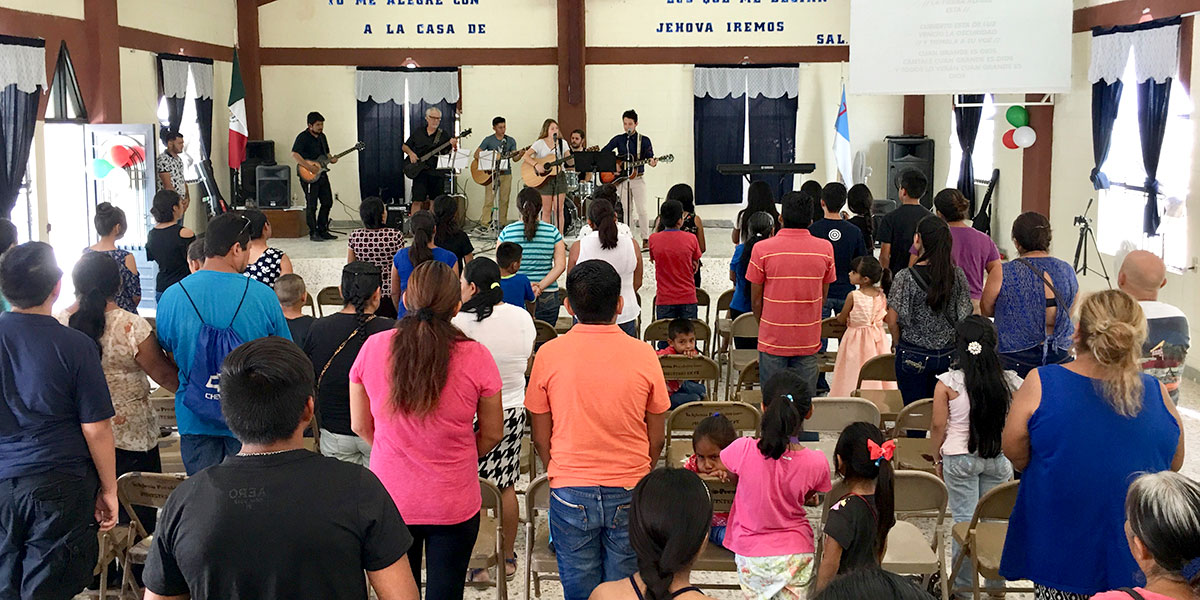 The band performing a joint concert this month in Reynosa