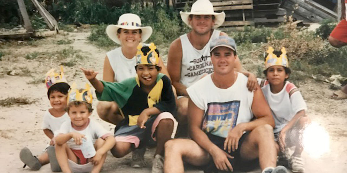 Kelly and her husband Hank in Reynosa with friends in 1995