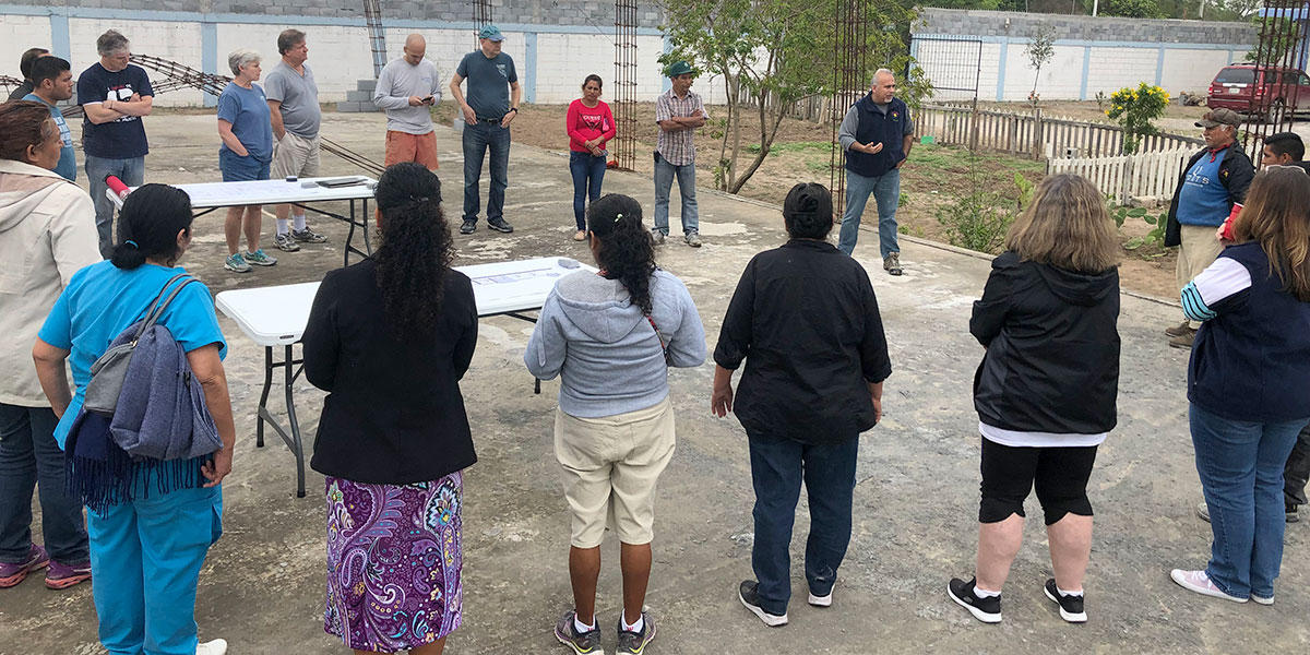 Our staff and Board of Directors at the Deantin community center in Naranjito