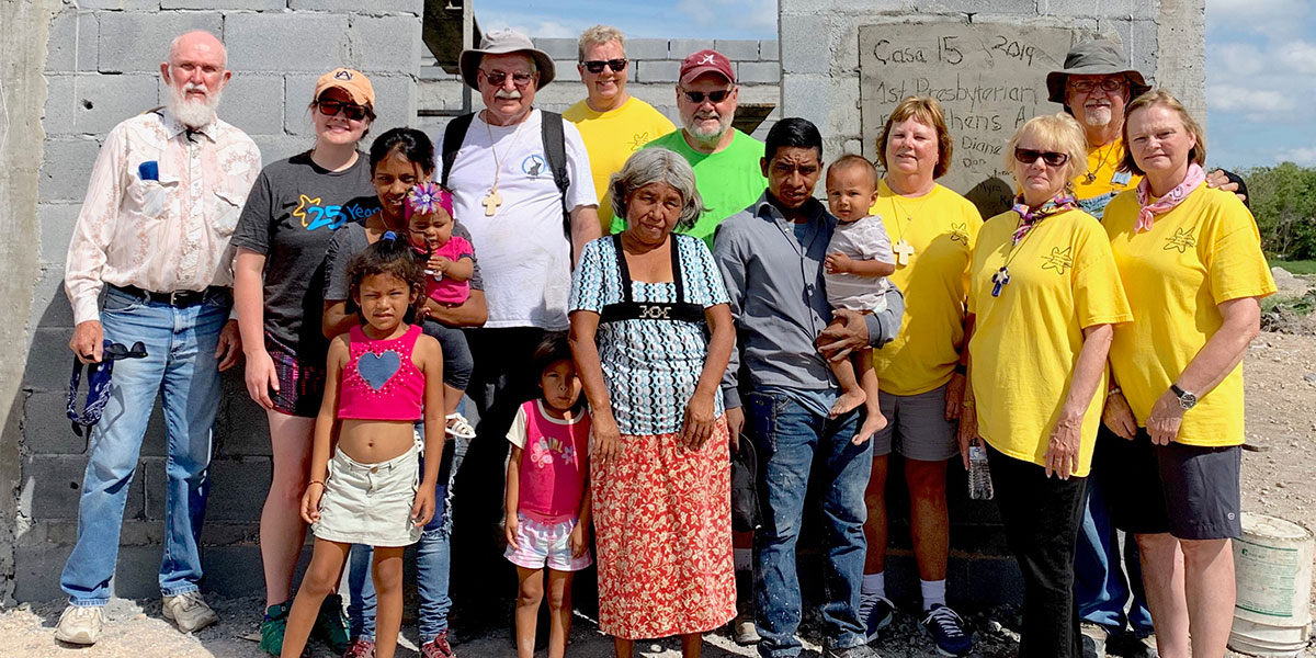 A team from Alabama with the family they helped build a home for in Reynosa Mexico