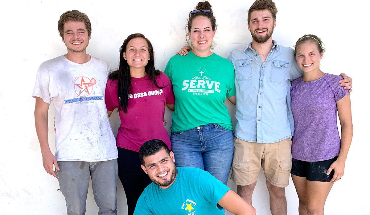 Our summer interns with Colleen in Reynosa Mexico