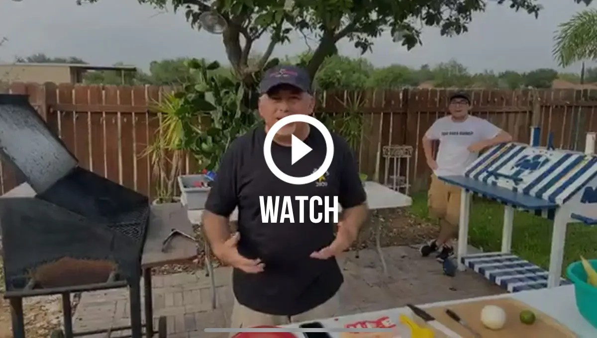 Click to watch Davids first virtual cookout
