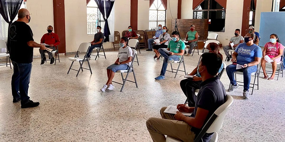 Our first in person staff meeting in Reynosa since March