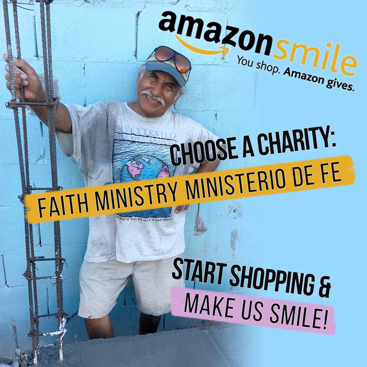Shop on AmazonSmile and Amazon will give Faith Ministry a percentage of the purchase