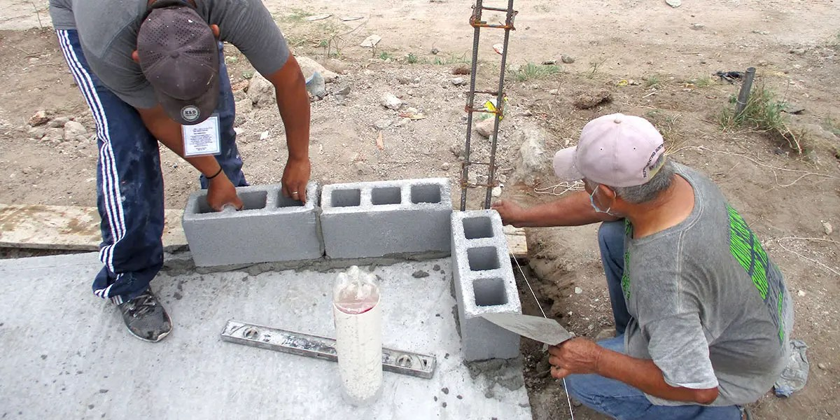 Our staff in Reynosa Mexico building Casa 3